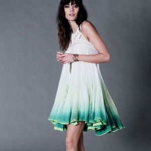 Free People New With Tags Dip Dyed Ombre Dress S